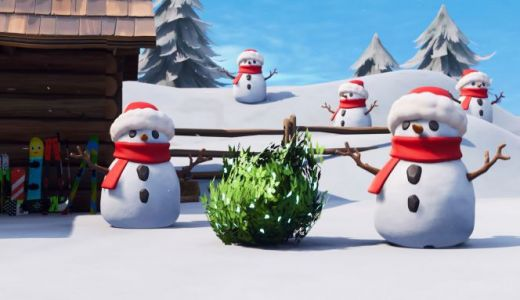 Fortnite patch notes detail sneaky snowmen, giant pyramids