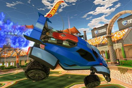 Hot Wheels unveils a 'Rocket League' tabletop soccer game with RC cars