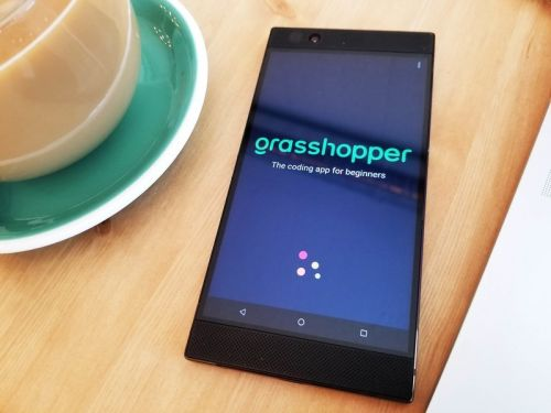 Google's Grasshopper app is a fantastic way for beginners to start coding