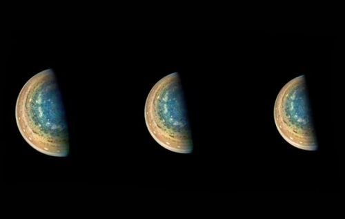 NASA's Juno time-lapse shows Jupiter's gorgeous blue south pole