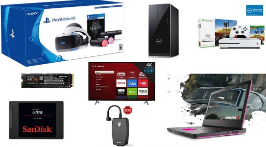 ET Deals Extended Presidents' Day Deals: $400 off Alienware 15 4K Gaming Laptop, $100 off PSVR Skyrim Bundle, and more