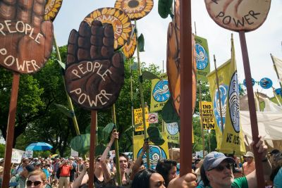 Hope and puppet shows: here's what happened at the People's Climate March