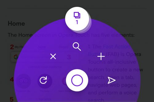 Opera Touch for Android updated with support for Dark theme and some bug fixes