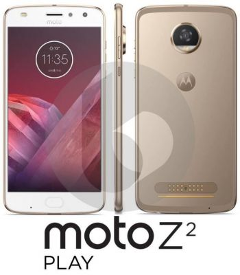 Moto Z2 Play Gets Pictured in Crystal Clear Render