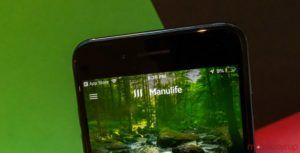 IOS Manulife Bank Mobile app lets user pay bills with more than 12,000 companies