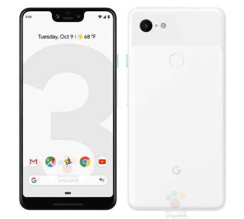Google Pixel 3 and Pixel 3 XL renders leak, show black and white color options