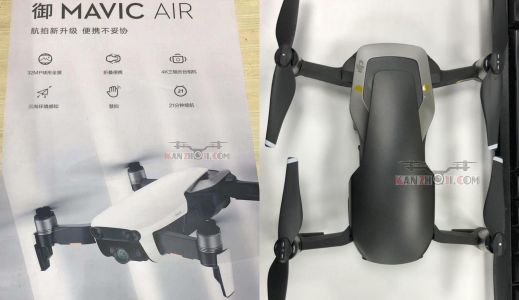 DJI's Mavic Air drone may have improved 4K video