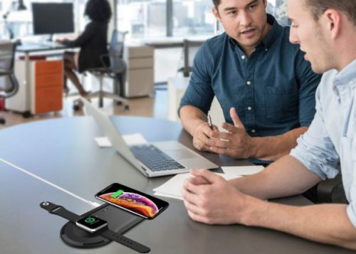 This dual wireless charging pad works with the iPhone and Apple Watch, and it's only $30