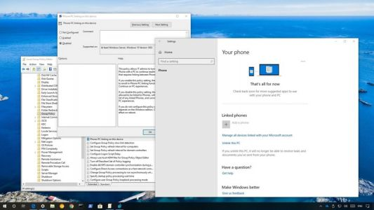 How to disable the phone-to-PC linking feature on Windows 10