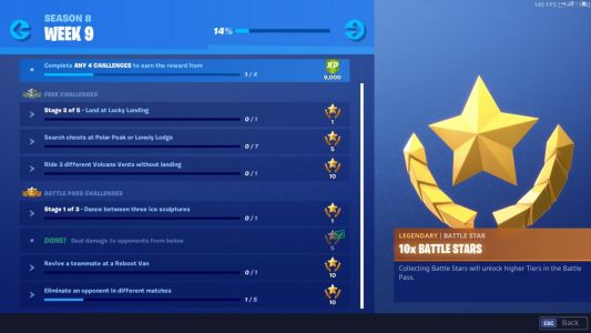 Fortnite Week 9 Challenge List: Dance Between Ice Sculptures, Ride Volcano Vents, And More