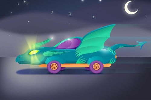 A bunch of 11-year-olds designed the cars of the future, and the results are utterly delightful
