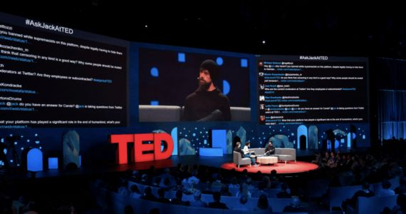 Twitter users trolled Jack Dorsey so hard they had to shut off the screen during his TED Talk