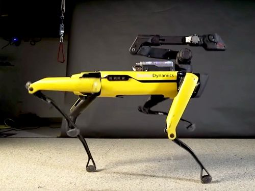 Boston Dynamics' door opening robot dog can now moonwalk to 'Uptown Funk'