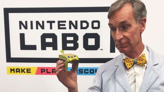 Check Out Bill Nye Playing With Nintendo Labo