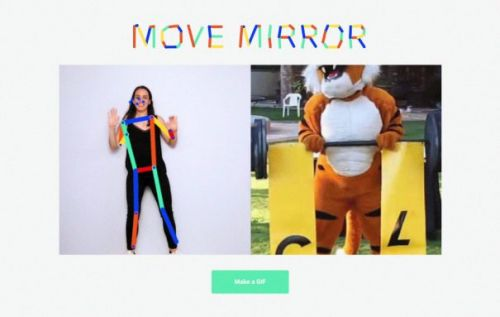 Move Mirror AI matches your pose with one in 80,000 images