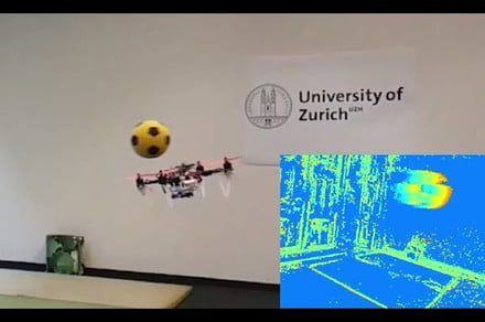 Watch this drone dodge an incoming soccer ball autonomously