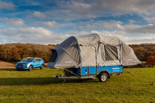 Nissan's old Leaf batteries can power this smart pop-up camper for one week