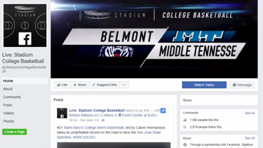You can now watch live college basketball on Facebook