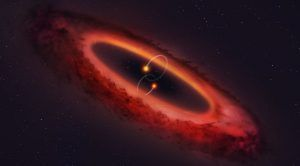 Bizarre 4-Star System Forms Planets in a Vertical Disk Orbit