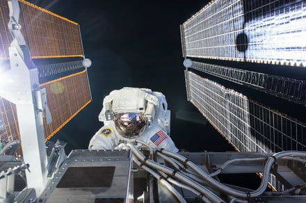 Two NASA astronauts are spacewalking outside the ISS right now
