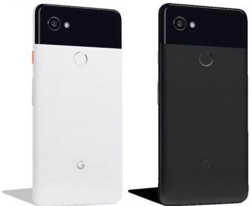 Google Pixel 2 XL shown in black and white, pricing rumored at $849