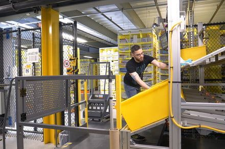 'Tech vest' prevents Amazon workers from colliding with robot co-workers