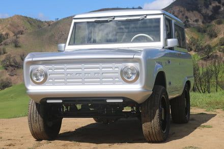 This vintage Ford Bronco off-roader has a modern electric powertrain