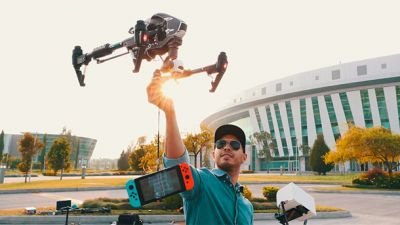 YouTuber Drops Switch From 1000 Feet With A Drone To See If It Will Survive