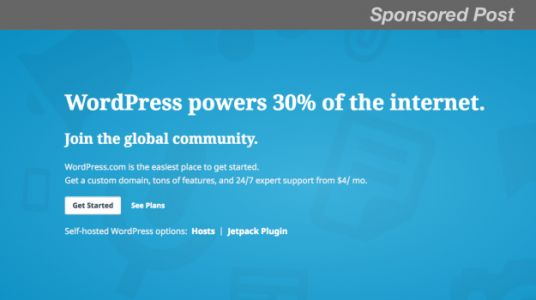 Geek Deals: Save 25 Percent, Get Started with WordPress.com Today