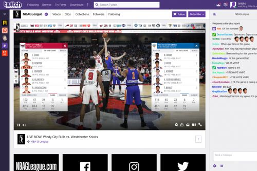 Twitch will start streaming US minor league basketball games