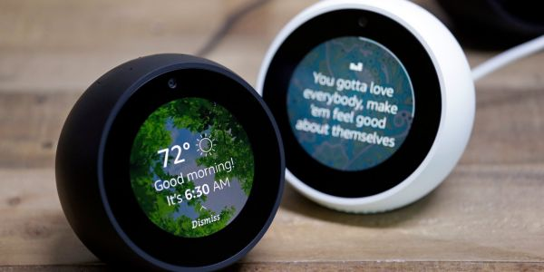 The Echo Spot is the only Amazon device with a tiny, round screen - and that's both the best and worst thing about using it