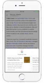 Google Search for iOS Adds Related Content Suggestions