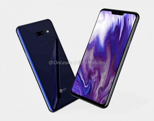 LG G8 design shown off in new renders