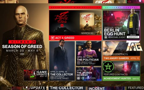 Hitman 3 Season of Greed update revealed, pre-update in May
