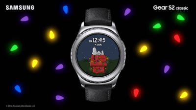 Light up the holidays with Snoopy on the Gear S2