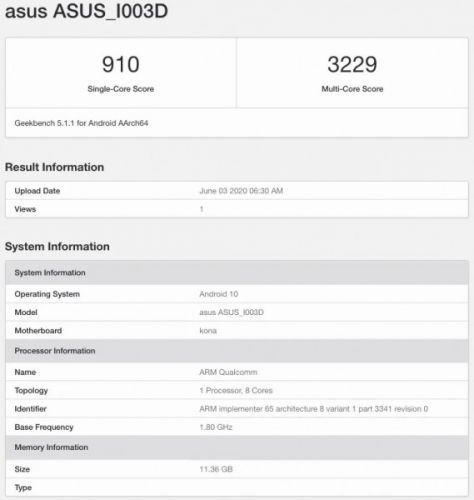 12GB RAM Asus ROG Phone III variant spotted on Geekbench?