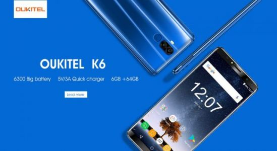 OUKITEL K6 will get 6300mAh battery and 5V/3A quick charger