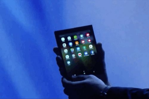 This is Samsung's foldable smartphone