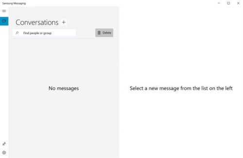 You can now directly send and receive text messages from some Samsung PCs