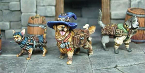 Kickstarter That Makes Cute Dog Miniatures For Your D&D Games Blows Past Goal