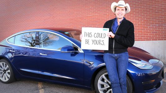 Kimbal Musk - Elon's brother - is giving away one of the first Tesla Model 3s ever made