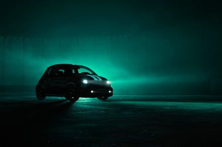 This glow-in-the-dark, scorpion-skinned Fiat 500 Abarth helps fight cancer