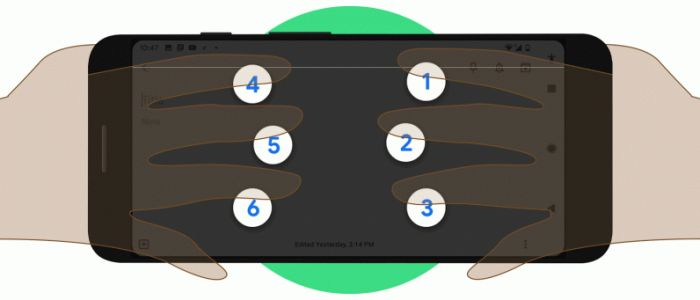 Google created a braille keyboard for Android, no new hardware required