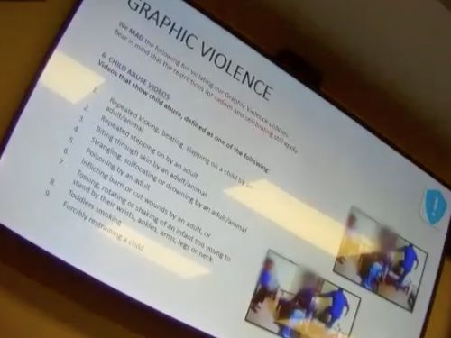 Secretly filmed footage reveals the training Facebook moderators are put through