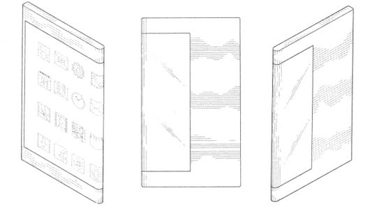 Samsung patents phone with a screen that wraps around the back