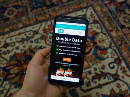 Get double the monthly data at Tello now through January 16