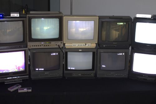 This retro futuristic student game lets you play Pong across 10 old TVs