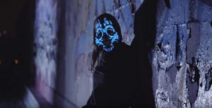 These sound reactive LED masks made in Montréal are made for trippy nightmares