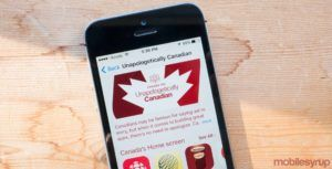 Apple featuring 'Unapologetically Canadian' section in the App Store