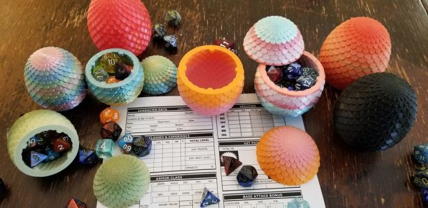 Store Your Dice in These 3D Printed Dragon Eggs